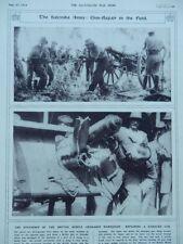 1916 BRITISH MOBILE ORDNANCE WORKSHOP REPAIRING FIELD GUN SALONIKA WWI WW1
