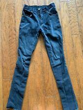 Teens Vintage 8 00006000 0s Black Skinny Stretch Jeans 29w Stage Pants Heathen Exodus