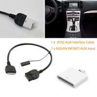 AUX INPUT ADAPTOR CABLE For Infiniti 09-12 iPOD iPHONE EX35 FX35 FX50 QX56 Valid