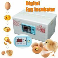 20 Eggs Automatic Digital Incubator Poultry Hatcher Brooder Temperature Control~