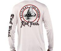 RedFish UPF 50 Long Sleeve Microfiber Performance fishing shirt chasing tail