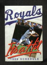 Kansas City Royals--George Brett--1989 Pocket Schedule--Overland Park