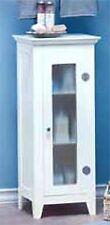 """33"""" WHITE STORAGE CABINET W/ 3 INTERIOR STORAGE SHELVES & GLASS DOOR ** NIB"""
