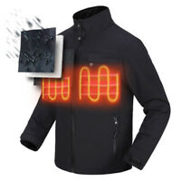 Mens Battery Heated Warm Work Jacket Motorcycle Skiing Riding Snow Coat Winter