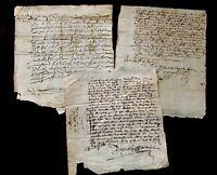 1600s Signed Manuscript Documents