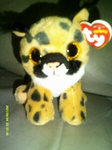 """Ty Beanie Babies Larry The Lynx Cat Plush 6"""" New With Tag"""
