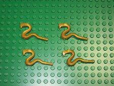 Lot of 4 Lego Ninjago SNAKE Viper Cobra -Pearl Gold- Minifigure Weapons, Staff