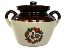 McCoy #342 Vintage Crock Chicken and Flowers Lidded Ovenproof Holds 80 Ounces