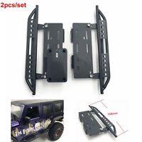 2 Stück Schwarz Metall Side Pedal Plate Für 1:10 RC Crawler Axial SCX10 SCX-10ll