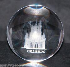 Magical CASTLE in 3D Laser art Crystal - ORLANDO FLORIDA Souvenir crystal ball