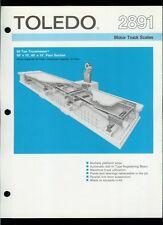 Super Rare Vintage Original Toledo Scale Brochure: 2891 Motor Truck Scales