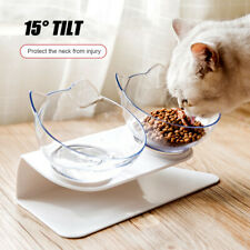 Non-slip Double Bowls with Raised Stand Pet Food Water Bowl Cats Dog Feeder equ