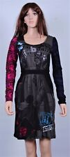 New Desigual Ladies Dress 'Rainbow' Black&Multi, Size XS