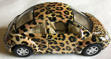 Volkswagen beetle Kinsmart diecast Leopard skin pattern toy car, no box