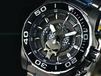 Invicta 48mm Men Marvel Limited Ed  COMBAT PUNISHER Chrono Black Bracelet Watch