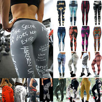 Women Printed Sports Yoga Pants Fitness Gym Leggings Running Gym Workout Trouser