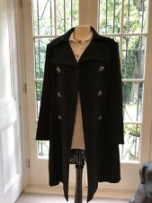 Apanage Ladies Black Smart Coat Size 16 - Excellent Condition