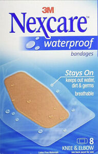 Nexcare Waterproof Clear Bandage, Knee and Elbow, 8 Bandages