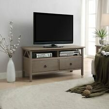 TV Stand Unit Cabinet with 2 Drawer Entertainment Media Console in Rustic Grey