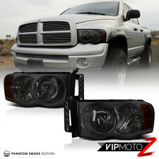 Titanium Smoke 02-05 Dodge Ram 1500 Truck New Pair Headlight Signal Lamp w/Amber
