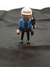 Vintage Playmobil Policeman Klicky figure Geobra 1974 with Tie Radio Gun Belt