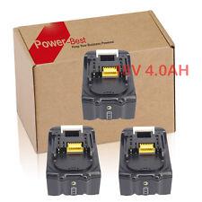 3X Makita Akku BL1830 BL1840 B 18V 4,0Ah mit LED Ladestandsanzeige - De Neu