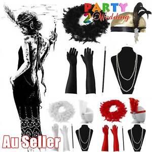 5pcs 1920's Gatsby Charleston Boa Flapper Cigarette Gloves Necklace Accessories