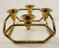 Candle Holder Vintage Solid Brass Holds 4 Candlesticks, Wedding or Home Decor