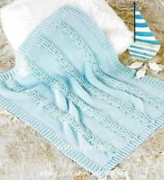 (97) DK Knitting Pattern for Classic Baby Blanket