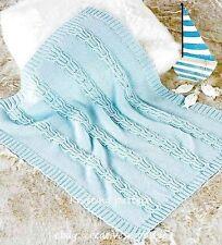 (97) DK Knitting Pattern for Classic Baby Blanket