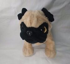 Tan Brown Puppy Pug Plush Toy by Ganz Webkinz Wrinkly Face Curled Tail Animal