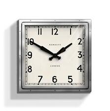 NEWGATE CLOCKS Quad Large Square Metal Analogue Wall Clock Silver Living Room