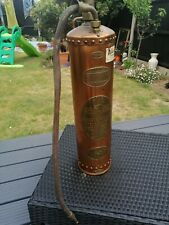 "Read & Campbell 1934 Vintage ""Waterloo"" Fire Extinctuer Copper & Brass"