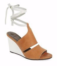 COCLICO SHOES JEWEL WEDGES ANKLE WRAP SANDALS HEELS NEW 39.5 $415 NIB