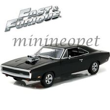 GREENLIGHT 19027 2001 FAST & FURIOUS DOM'S 1970 DODGE CHARGER 1/18 DIECAST BLACK