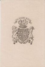 EX-LIBRIS Guy de COURTIN de NEUFBOURG (1888-1986) par HENRY-ANDRÉ - FOREZ