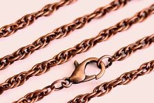Antique Copper Rope Chain Plated Wholesale Lots Necklace Lot Bulk Usa Seller