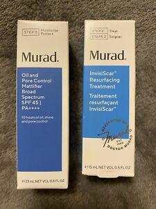 Murad Invisiscar Resurfacing Treatment Oil and Pore Control Mattifier SPF 45 Duo