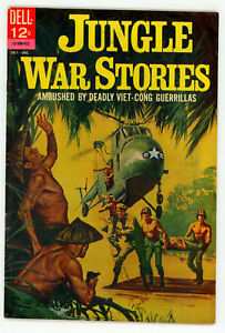 JERRY WEIST ESTATE: JUNGLE WAR STORIES #5 (VG-) & 9 (FN) (Dell 1963-64) NR