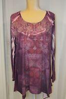 CLOSET FULL Women's Purple Long Sleeve Shirt - Size XXL