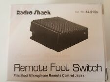 """New In Box Vintage Radio Shack """"Cassette Recorder"""" Remote Foot Switch 44-610D"""