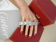 Cartier Tank Francaise Watch Steel Cartier ladies Francaise Box Papers MINT