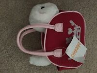 Gymboree Homecoming Kitty Purse Red Pink White Plush Cat Crown NWT Cheerleader