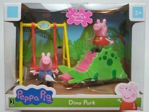 ⚡Peppa Pig Dino Park w/ George Dinosaur Slide Swing Playground Jazwares New