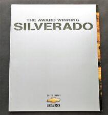 ORIGINAL 1999 CHEVROLET SILVERADO PICKUP 54 PAGE  BROCHURE  W/ TECH SPECS ~ CS99
