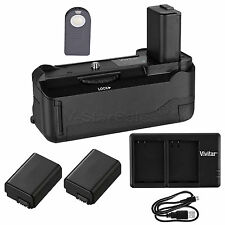 Vivitar Battery Grip for Sony A6300 + 2x NP-FW50 Battery +USB Dual Charger