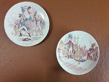 2 antique Sarreguemines French Revolutionary War ceramic collector plates