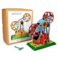 TIN TOY TWIN FERRIS WHEEL Wind Up Retro Vintage Style NEW Chain Driven Movement