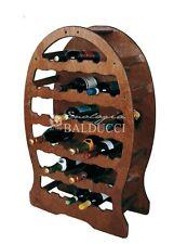 Cantinetta portabottiglie in legno multistrato a botte 33 posti vino