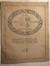 Darmstadt - Wingolf - Darmstädter Wingolfsbote - März 1919 / Studentika